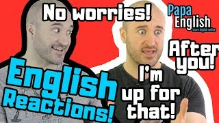Download English Reactions! - HOW do I say THIS in English? Video