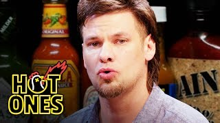 Download Theo Von Fights the Dark Arts While Eating Spicy Wings   Hot Ones Video