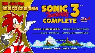 Download Sonic 3 Complete (LIVE Stream - Saturday 2nd June 8pm '18 BST) Video