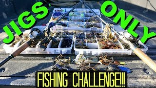 Download Jigs ONLY Bass Fishing CHALLENGE!!! Video