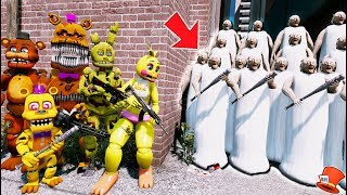 Download CAN THE ANIMATRONICS DEFEAT EVIL GRANNY ARMY? (GTA 5 Mods Kids FNAF RedHatter) Video