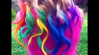 Download Rainbow Hair Dyed with Chalk Tutorial (Temporary) | Haley & Bronwen Video