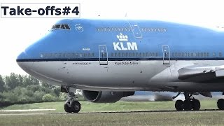 Download Amsterdam Airport Schiphol planespotting - Take-offs #4 Video