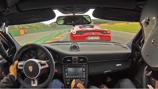 Download Porsche GT3 RS 4.0 in action vs La Ferrari & 458 Speciale A 1080p Video