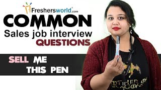 Download Tough sales job interview questions and how to answer them - Answer for Sell me this pen Video