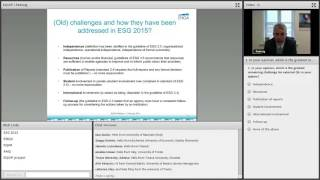 Download EUA Webinar: How will external QA change as a result of the ESG 2015 Video