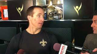 Download Drew Brees talks about facing Falcons players that grew up watching him Video