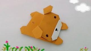 Download Origami lying dog / พับหมาน้อยนอนสบาย Video