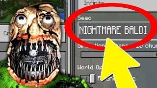 Download NEVER Play Minecraft NIGHTMARE BALDIS BASICS WORLD! (Haunted ″Baldi's Basics in Education″ Seed) Video