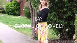 Download DIY Floral Wrap Skirt Tutorial : How to sew your own wrap skirt using fabric (Rayon) Video