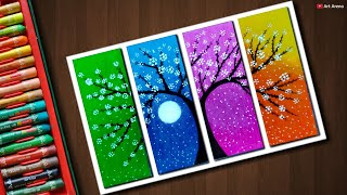 Download Flower Tree drawing with Oil Pastels - step by step Video