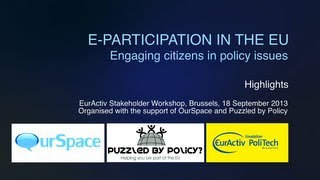 Download eParticipation in the EU - Engaging Citizens in Policy Issues Video