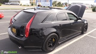 Download TT 1,000+ hp CTS-V Wagon!? PLAY TIME vs 1,xxx hp GT-R & CTS-V Sedan Video