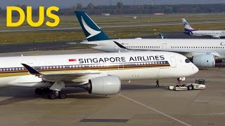 Download BUSY DAY Planespotting at Düsseldorf Intl. Airport: A350, A340 and more! [Full HD] Video