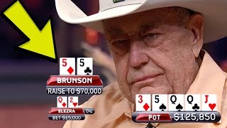 Download Doyle Brunson TRAPS Elezra With The FULL HOUSE In A Six-Figure Pot Video