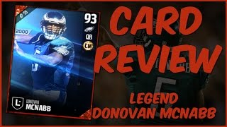 Download MUT 17 Card Review | Legend Donovan McNabb Gameplay + Card Review Video