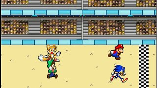 Download Mario and Sonic have a Race Video