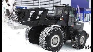 Download Scania wheel loader - Snow clearing - Sweden - 4K Video