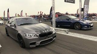 Download 900HP BMW M5 F10 HPT vs 650HP Nissan GTR R35 Video