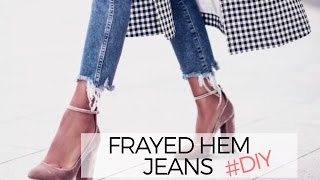 Download HOW TO: FRAYED DENIM JEANS (DIY) Video