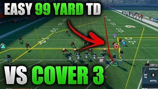 Download EASILY BEAT COVER 3 FOR A 99 YARD TD EVERY TIME   Madden 18 Tips - How to Beat Cover 3 Video