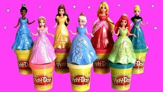 Download Play Doh Sparkle MagiClip Fairytale Fashion Tiana Cinderella playdough Glitter Magic Clip Elsa Anna Video