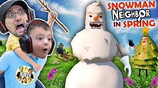 Download HELLO NEIGHBOR CHRISTMAS MOD! Snowmen in APRIL? Amazing Frog Teleport (FGTEEV Duddz & Shawn) Video
