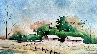Download Simple Watercolor Landscape Painting for Beginners | Paint with David | Video