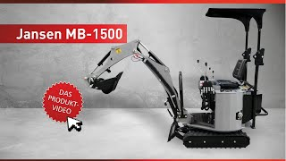 Download Minibagger, Microbagger MB-1500. Komplettset inkl. Schaufeln, Greifer & Reißzahn Video