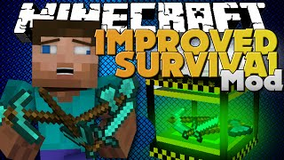 Download Minecraft Mods - IMPROVE SURVIVAL MOD - MAKE YOUR LIFE EASIER Video