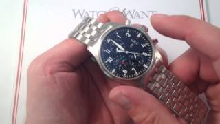 Download IWC Pilot's Chronograph 3777-04 Luxury Watch Review Video