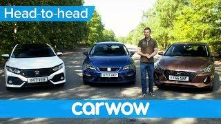 Download Honda Civic vs Hyundai i30 vs SEAT Leon 2018 review - which is best| Head2Head Video