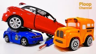 Download NEW Bussy & Speedy AUDI A1 Construction - Bburago Toy Cars for Children.Stories for Kids Video