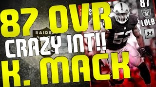 Download MY BEST START TO MUT 17 GAME!! KHALIL MACK WITH A ONE TAKE TIMMY PICK 6!! MADDEN 17 ONLINE GAMEPLAY Video
