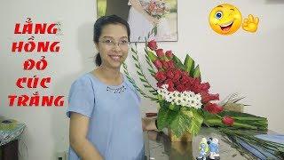 Download Tập 14- Lẳng Hoa Hồng Đỏ Kết Hợp Cúc Trắng Hình Cánh Buồm Cắm Hoa Bàn Thờ Video