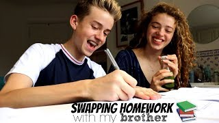 Download Swapping Homework with my Brother!! Year 13 vs Year 10 Video