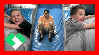 Download GIANT INFLATABLE SLIDE AND OBSTACLE COURSE (Day 1663) Video