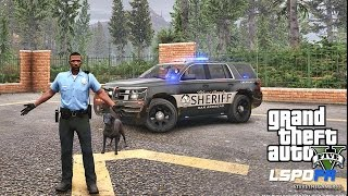 Download GTA 5 LSPDFR 0.3.1 - EPiSODE 394 - LET'S BE COPS - PALETO K9 PATROL (GTA 5 REAL LIFE POLICE MOD) Video