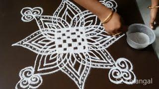 Download Padi Kolam for Friday - easy rangoli designs for festival- geethala muggulu Video