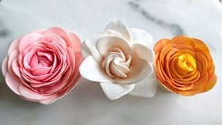 Download Easy Camellia, Gardenia & miniature Rose -Smaller Easiest Rose Cutter Ever - beginner sugar flowers Video