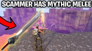 Download SCAMMER HAS NEW MYTHIC MELEE! (Scammer Gets Scammed) Fortnite Save The World Video