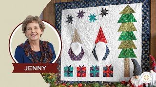 Download Make a Winter Wall Hanging Quilt With Jenny Doan of Missouri Star (Instructional Video) Video