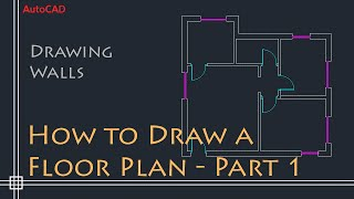 Download AutoCAD 2D Basics - Tutorial to draw a simple floor plan (Fast and efective!) PART 1 Video