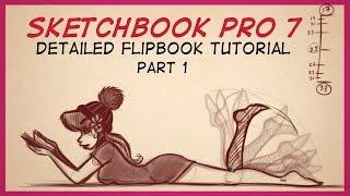 Download Autodesk Sketchbook Pro 7 FlipBook Tutorial Part 1 Video