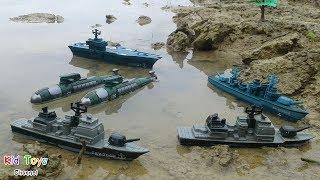 Download Naval Forces Battle fleet Command base Aircraft carrier Destroyer Submarine Frigate Toys for kids Video