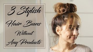 Download 3 Stylish Hair Buns Without Any Products | Anusha Dandekar Video