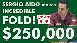Download Sergio Aido Makes INCREDIBLE Fold in $250,000 Triton Poker Super High Roller Cash Game 2018 Video