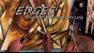 Download Art Painting Geometric shapes creating depth by blending and shading Video