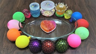 Download Mixing Random Things into Store Bought Slime ! Mixing Stress Balls with Store Bought Slime ! Video