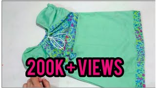 Download Raglan Top / Baby Jhabla Make Left Over Piece Cutting And Stitching Video
